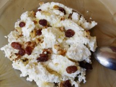 Curd with Nuts and Zest