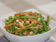 Carrots and Beans with a Japanese Bean Curd Dressing