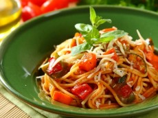Pasta With Vegetable Dressing