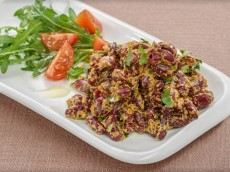 Red Kidney Bean Salad with a Walnut Dressing