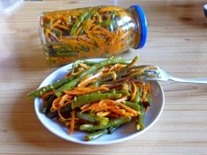 Dried Fava Bean and Green Pepper Bell Pepper Salad