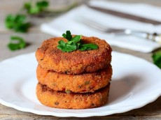 Wheat and Carrot Cutlets
